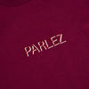 Parlez Shadow T-Shirt Burgundy