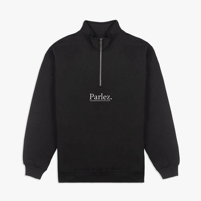 Parlez Maris 1/4 Zip Black