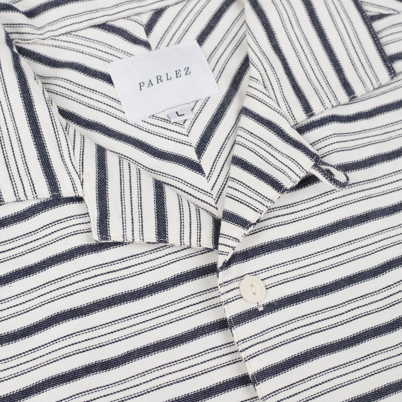 Galeas Short Sleeve Shirt White Stripe