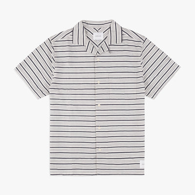Parlez Galeas Short Sleeve Shirt White Stripe