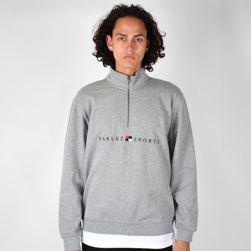 Parlez Tidal 1/4 Zip - Heather Grey
