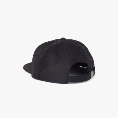 Pennant Wool 6 Panel Cap Black