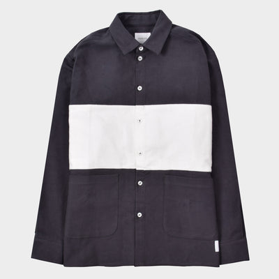 Parlez Biscay Stripe Shirt Grey