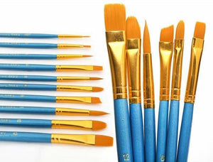 paint by numbers | 10pcs Paint Brush Kit for Acrylic oil Painting and Watercolor | others | FiguredArt