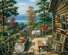 Load image into Gallery viewer, paint by numbers | Chalet Terrasse | advanced landscapes | FiguredArt