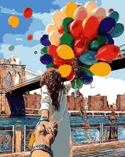 Load image into Gallery viewer, paint by numbers | Colorful Balloons | easy romance world | FiguredArt