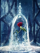 Load image into Gallery viewer, paint by numbers | Enchanted Rose Beauty and The Beast | flowers intermediate movies | FiguredArt