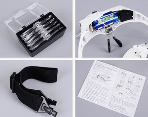 accessories | Headband Magnifier Glass Magnifying Glasses with Lamp for Paint by Numbers | others | global.figuredart