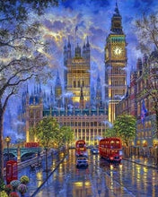 Load image into Gallery viewer, paint by numbers | London in the dusk | advanced cities | FiguredArt