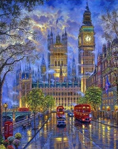 paint by numbers | London in the dusk | advanced cities | FiguredArt