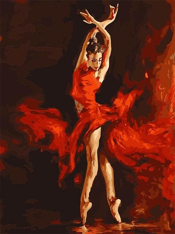 paint by numbers | Magical Red Dancer | advanced dance romance | FiguredArt