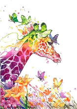 Load image into Gallery viewer, paint by numbers | Modern and Colorful Giraffe | animals easy giraffes | FiguredArt