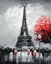 Load image into Gallery viewer, paint by numbers | Paris Eiffel Tower | cities intermediate romance | FiguredArt