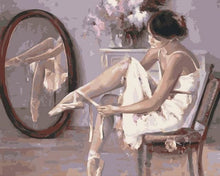 Load image into Gallery viewer, paint by numbers | Preparing ballerina shoes | dance easy | FiguredArt