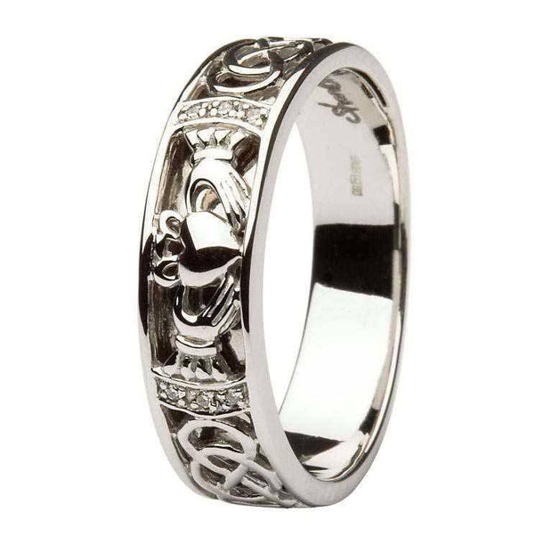 Mens Claddagh Wedding Ring SM-14IC4 - Uctuk