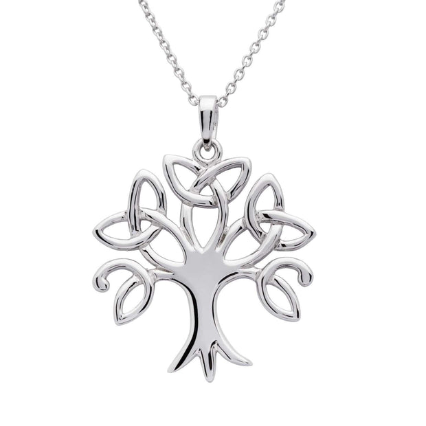 Sterling Silver Trinity Tree of Life Pendant with Chain - ANU1204 - Uctuk