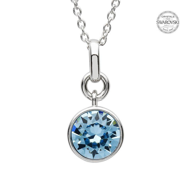 Sterling Silver Swarovski Add on Birthstone Pendant - SW152 March - Uctuk