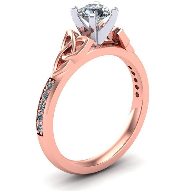 Celtic Engagement Ring AYLIN-1-ROSE-ROUND - Uctuk