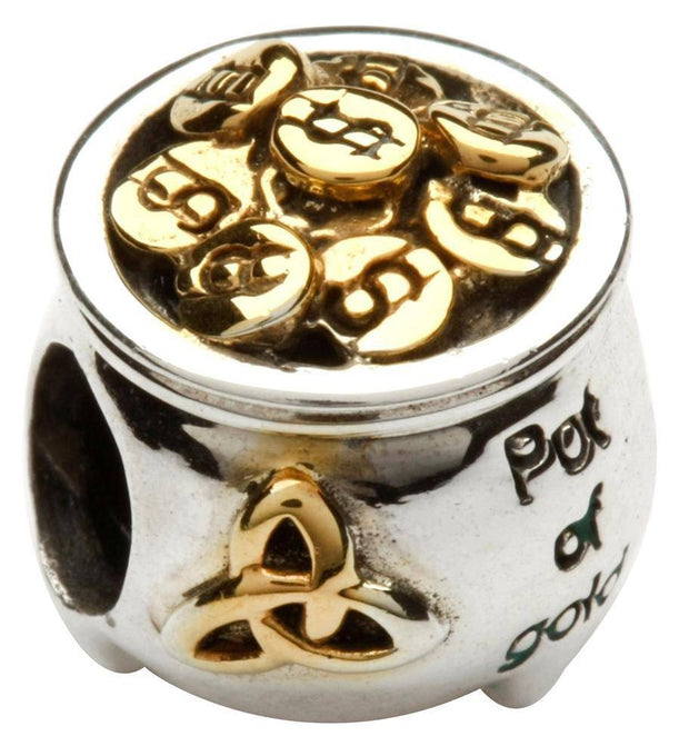 Tara's Diary Pot of Gold Bead with Gold Plating - TD69 - Uctuk