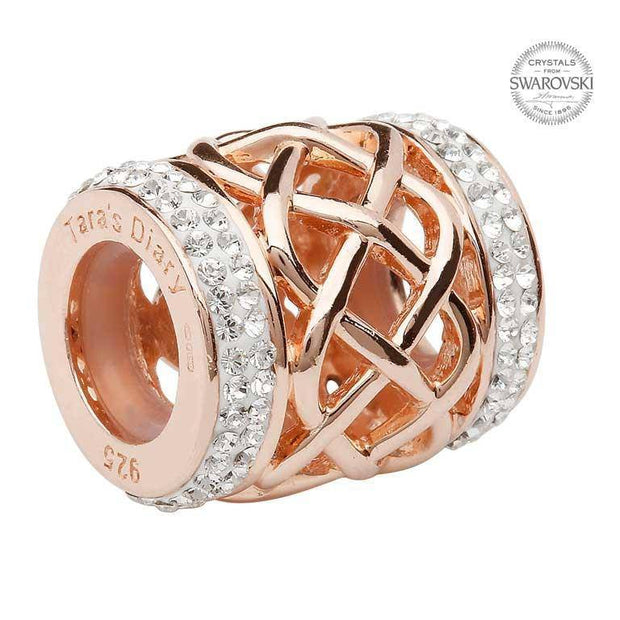 Tara's Diary Origin Celtic Rose Gold Plated Bead Adorned With Swarovski Crystal - TD614 - Uctuk