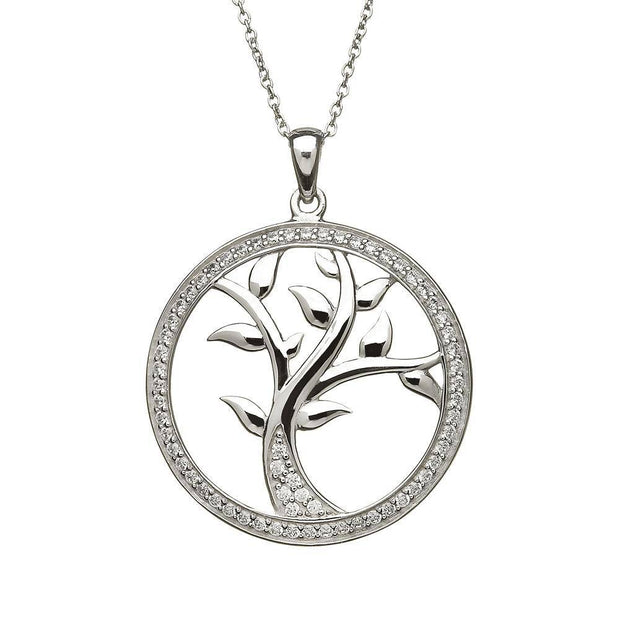 Sterling Silver Tree of Life Pendant with Chain - ANU1107 - Uctuk