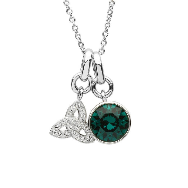Sterling Silver Trinity Pendant with Swarovski Crystals - SW153 - Uctuk
