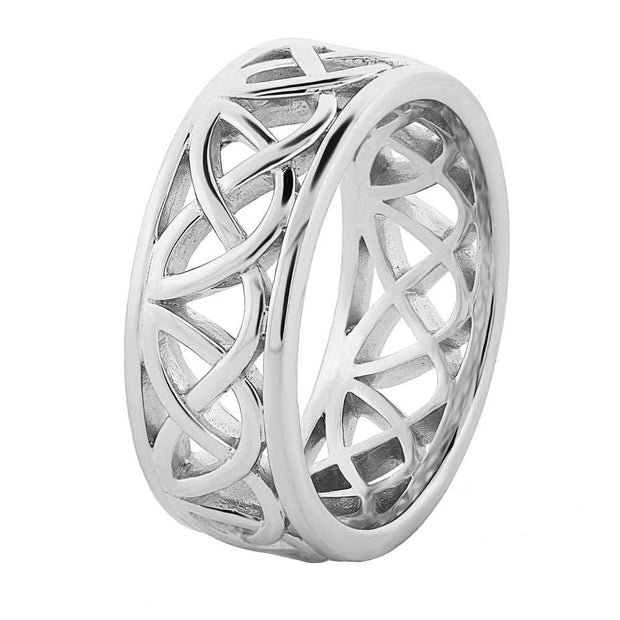 Mens Sterling Silver UMS-13349 Wedding Celtic Ring - Uctuk