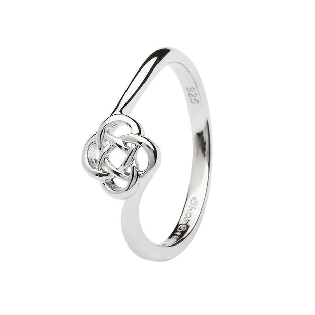 Sterling Silver Women's Celtic Knot Ring LS-SL106 - Uctuk