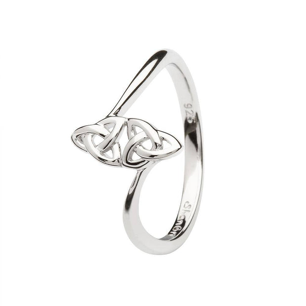 Women's Celtic Double Trinity Knot Ring LS-SL109 - Uctuk