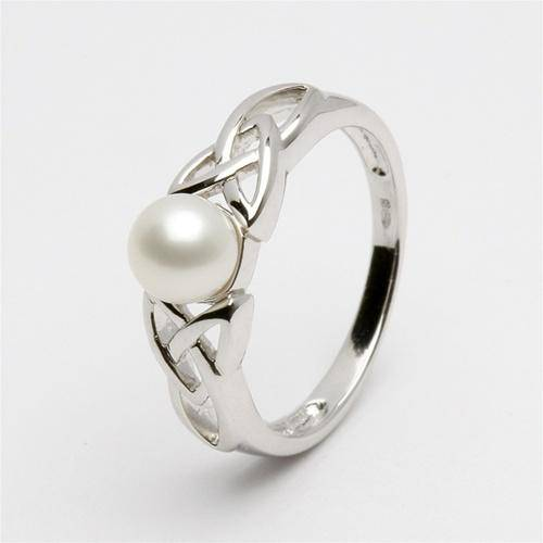 Ladies Celtic Pearl Ring LS-SRCP1 - Uctuk