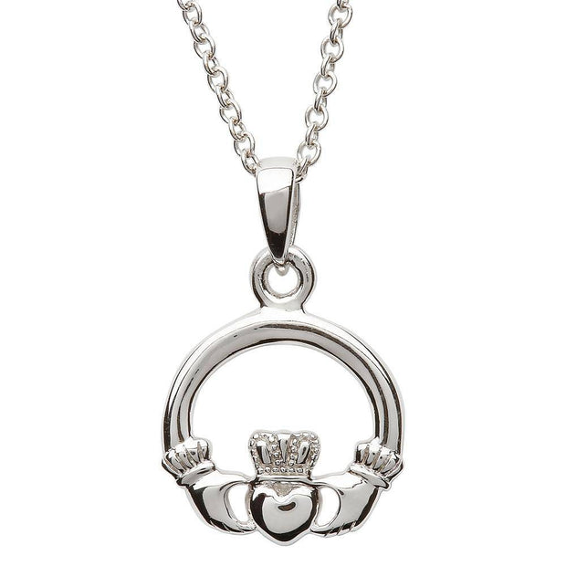Sterling Silver Medium Claddagh Pendant SP2116 - Uctuk
