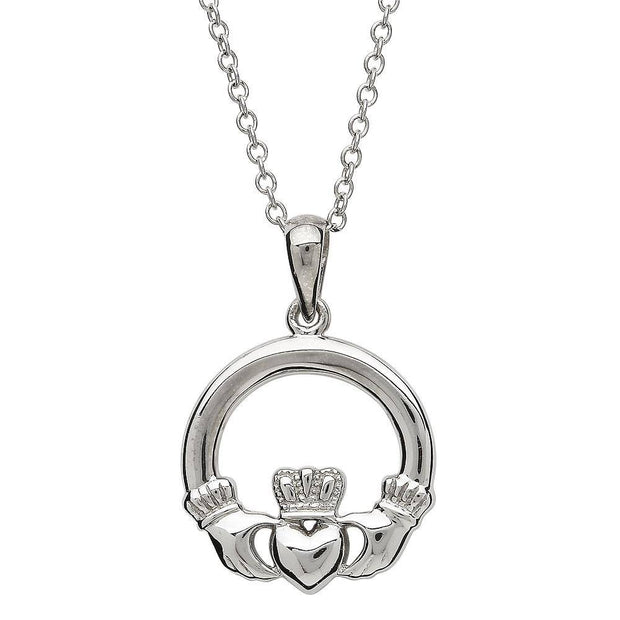 Sterling Silver Claddagh Pendant SP2117 - Uctuk