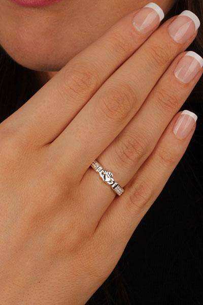 Retired Ladies Sterling Silver Claddagh Ring LS-RS760 - Uctuk