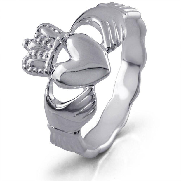 Retired MENS Silver Claddagh Ring MS-RS672 - Uctuk