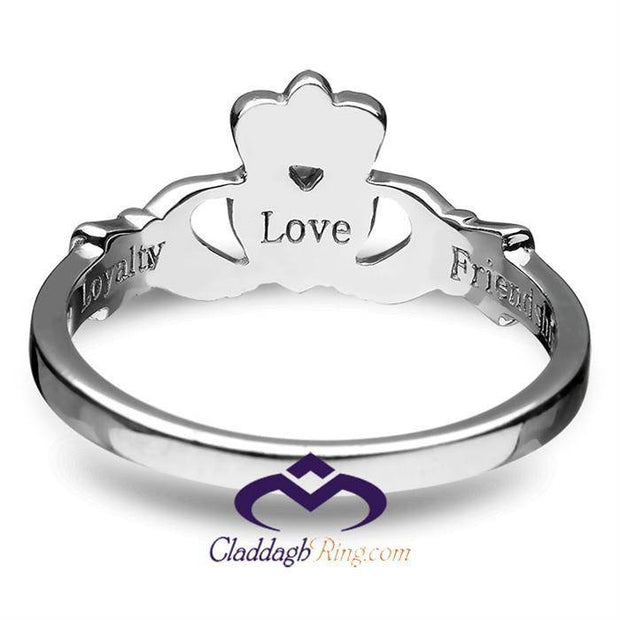 Sterling Silver Love, Loyalty, Friendship Claddagh Ring - ANU3017 - Uctuk