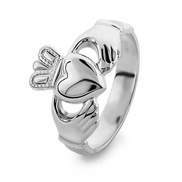 MENS Sterling Silver Claddagh Ring S-S2272 - Uctuk