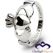 Ladies Petite Silver Claddagh Ring SL-SL1 - Uctuk