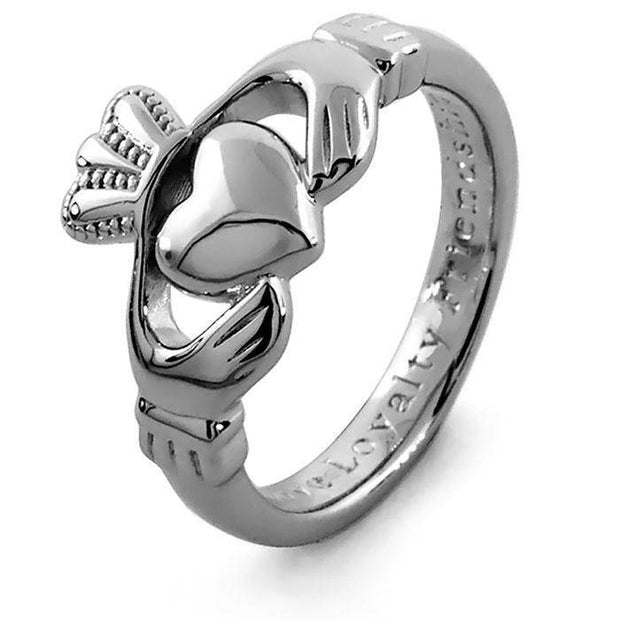 Retired MENS BEST QUALITY Silver Claddagh Ring SMS-SG92 - Uctuk