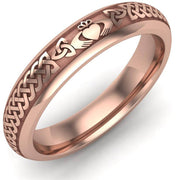 Claddagh Wedding Ring UCL1-14R4M - 14K Rose Gold - Uctuk
