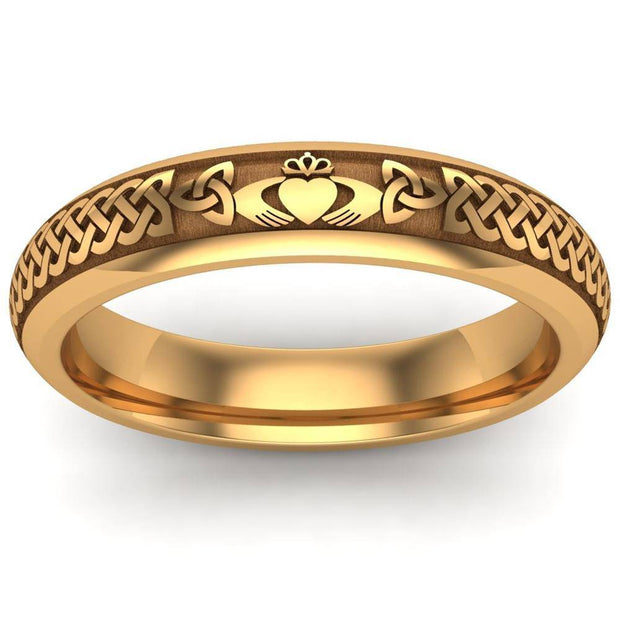 Claddagh Wedding Ring UCL1-14Y4M - 14K Yellow Gold - Uctuk