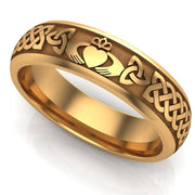 Claddagh Wedding Ring UCL1-14Y6M - 14K Yellow Gold - Uctuk