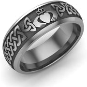 Claddagh Wedding Ring UCL1-TITAN8M - TITANIUM - Uctuk