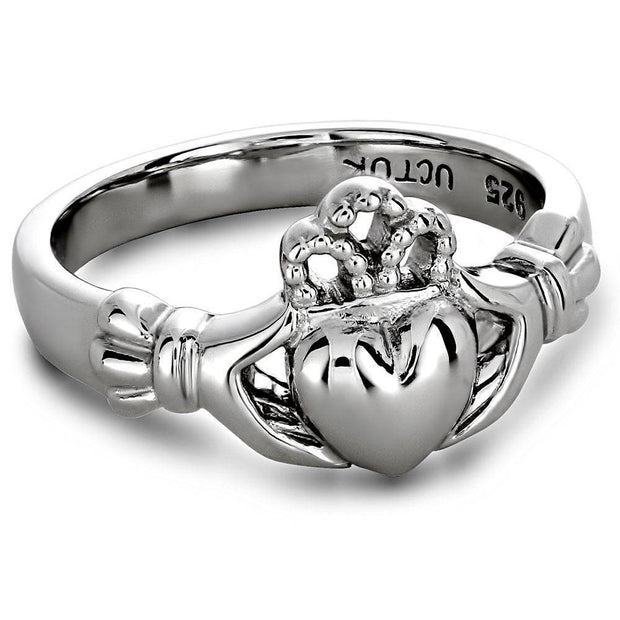 Ladies Sterling Silver ULS-6163 Claddagh Ring - Uctuk