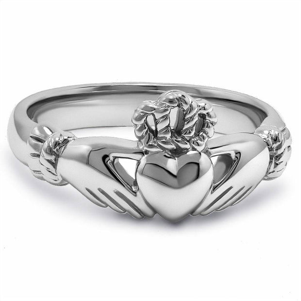 Ladies Sterling Silver ULS-6334 Claddagh Ring - Uctuk