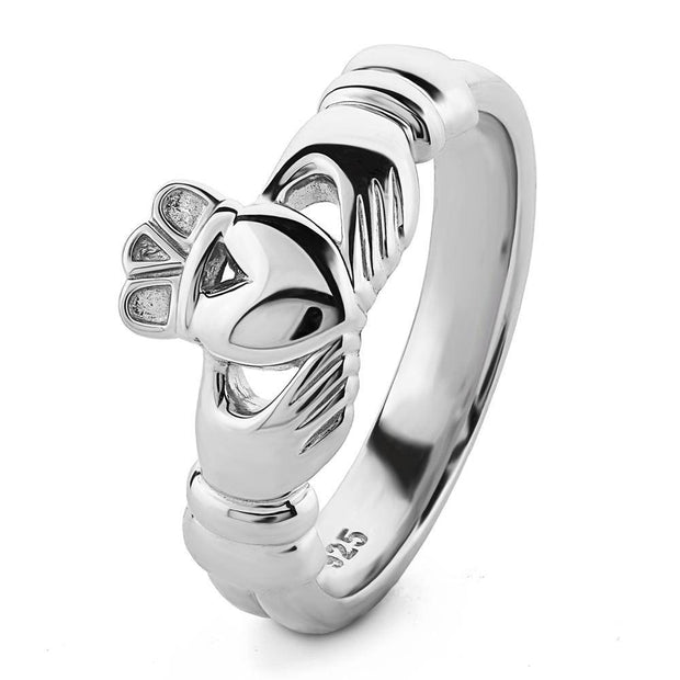 Ladies Sterling Silver ULS-6336 Claddagh Ring - Uctuk