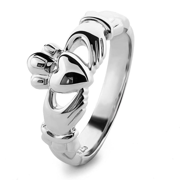 Ladies Sterling Silver ULS-6338 Claddagh Ring - Uctuk