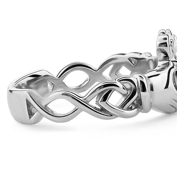 Ladies Silver Claddagh Ring ULS-6340 - Uctuk