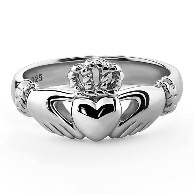 Unisex Sterling Silver UUS-6335 Claddagh Ring - Uctuk