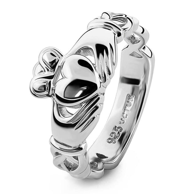 Unisex Sterling Silver UUS-6341 Claddagh Ring - Uctuk