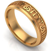 Custom Celtic Wedding Ring CUCEL1-14Y6M - Uctuk